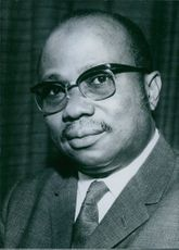 Portrait of Liberian politician William Richard Tolbert, Jr.