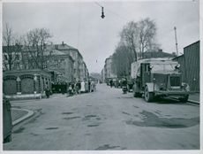 Grunerløkka school in Oslo is the meeting place for mobilized workers and officials, Norway 1943.