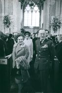 Roalty at baptism of son of Princess Margriet of the Netherlands and Pieter van Vollenhoven, 1970.