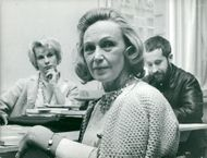 Inga Tidblad together with Bibi Andersson and director Staffan Aspelin