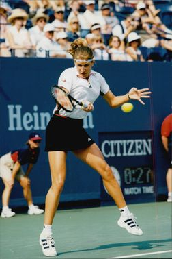 Steffi Graph in action at the US Open