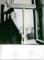 Athenagoras I standing by the window. 1969.