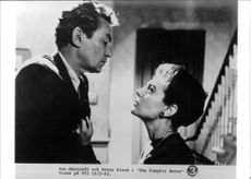 "Anne Bancroft och Peter Finch i filmen ""The Pumpkin Eater"""