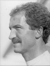 Portrait image of Graeme Souness, manager of the football team Liverpool, taken in an unknown context.