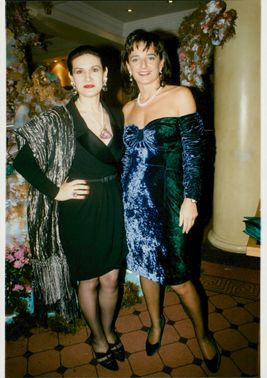 Portrait image of Paloma Picasso and Tiffany's fashion manager Rosa Moncktown taken in an unknown context.