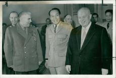 Nikita Khrushchev with russian defence minister.