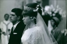 Woman on her wedding day. 1964