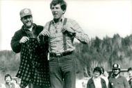 Presidential candidate Gary Hart in New Hampshire