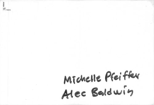 "Michelle Marie Pfeiffer with Alexander Rae ""Alec"" Baldwin."
