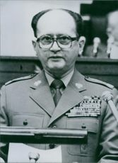 Polish politician, Wojciech Jaruzelski, 1982.