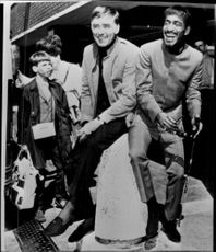 The American actor Peter Lawford along with Sammy Davis Jr..
