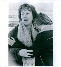"Kathy Bates and Clarissa Lassig in a scene from the film ""A Home of Our Own""."