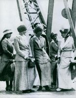 Women standing and talking with each other. Russia