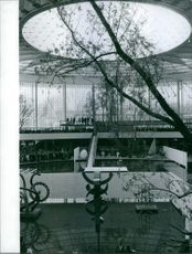 Beautiful interior of a pretty building.   expo brussels 1958