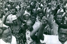 Kongo 1960 Kongo inhabitants protesting.