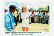 German tennis player Steffi Graf in South Africa visits Zululand