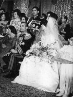 Matrimonial ceremony of Mohammad Reza Pahlavi and Farah Diba.  - Dec 1959