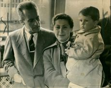 Dr. B. Kratochvil with his wife and son.