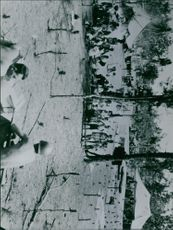 U.S. soldiers guarding the Japanese prison camp.