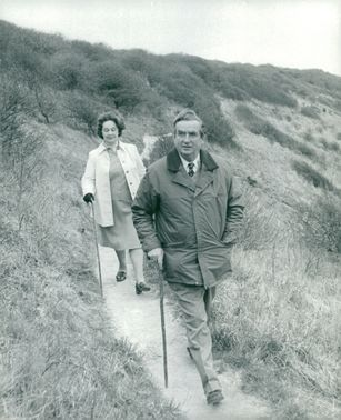 Denis Healey on the walk with his wife Edna