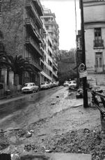 Roads and buildings during the Algerian War.