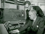 Research reactor R2 in Studsvik. Here the king closes the R0 reactor under the supervision of the lic. Rolf Persson