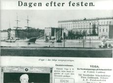Contemporary newspaper clippings about Adolf Nordenskiöld's departure with Vega 1878