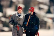 Prince Charles together with Prince Harry and Prince WIlliam in the ski slope
