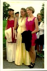 Guests arrive at Crown Princess Victoria and her friend Caroline Severin's graduation party at Ulriksdal Palace.