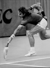 Davis Cup 1983: Tennis match between Sweden - Argentina