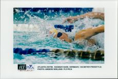 OS in Atlanta 1996. Dagmar Hase from Germany in 100 meters freestyle