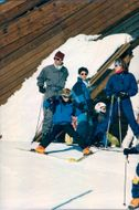 Prince Charles with the sons Prince William and Prince Harry in the ski slope