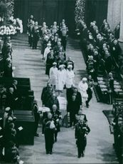 Funeral Ceremony of Wilhelmina of the Netherlands, 1962.