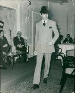 Fashions: cardin creations for men presented.