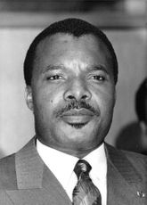 Portrait of Sassou Nguesso.