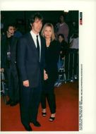 "David E. Kelley and Michelle Pfeiffer at the premiere of ""A Wonderful Day"""