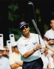 Golf player Mats Lanner during Scandinavian Masters 1995