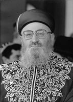 Rabbi Oradiya Yoseph in a portrait.