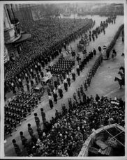 The procession at King George VI's funeral