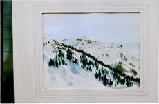 """Watercolor painted by Prince Charles signed C93 """"Horli from Klosters"""""""