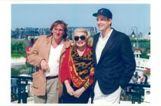 Gena Rowlands, celebrated actress with his son Nick Cassavets and actor Gerard Depardieu