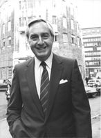 British Broadcasting Chief, Stuart Young, 1983.