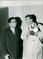 Mehdi Ben Barka with man.