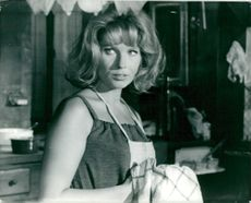 "Gunnel Lindblom in the role of Karen in the movie ""Play with stranger""."