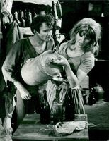 """Lars Passgård and Pia Rydwall in """"The Hero on the Green Island"""""""