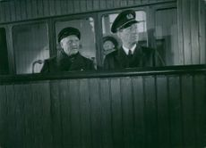 """A scene from the film """"Night in the port"""", 1943."""