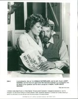 Donald Sutherland Canadian actor and His wife Janet Suzman.