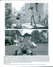 """Scenes from the film """"Toy Story"""", 1995."""
