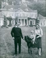 HRH Princess Anne with her husband, Mark Phillips and their son Peter Phillips.