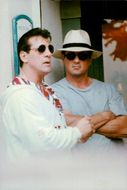 Sylvester Stallone with brother Frank Stallone